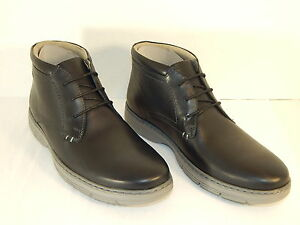 CLARKS WATTS MID MENS LACE-UP LOW BOOT BLACK LEATHER SIZE 7