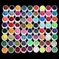 72 Mix Color Set Nail Art Glitter Powder Dust For UV GEL Acrylic Decoration Tips