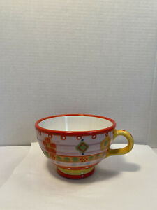 Festin Coquin Creation 17 Handmade Hand Painted Coffee Mug Cup 16oz Multi Color