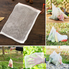 1-100pcs Garden Plant Fruit Protect Drawstring Net Bag Mesh Against Pest Bird Us