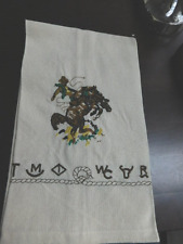 Western Cowboy bucking horse Brands Dish towel embroidered cotton towel