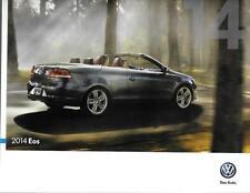 2014 14  VW EOS original Sales brochure MINT