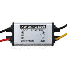 Waterproof Car Truck DC 24V To DC 12V 5A 60W Power Supply Converter Adapter New