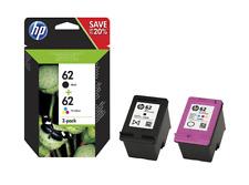 HP 62 Pack de 2 Cartouches d'Encre Noire et Trois Couleurs (Cyan, magenta, Jaune