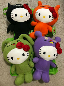 """SDCC 2013 SANRIO UGLYDOLL HELLO KITTY SET OF 4 12"""" NEW WITH TAGS + TOTE (2x)"""