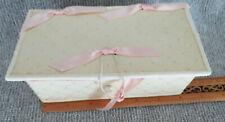 Antique Sabbathday Lake Shaker Silk Brocade Sewing Box and Contents