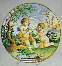 Assiette faïence de Castelli Italie XIXè Piatto faenza di Castelli Putti