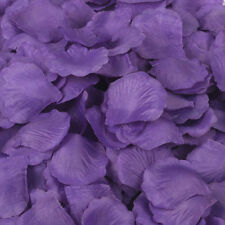 200Pc Silk Rose Flower Petals wedding arrangement party Confetti Favor purple