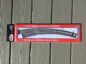 ATLAS 1/87 HO CODE 83 NICKEL SILVER RAIL MANUAL CURVED LEFT HAND TURNOUT 595 FS