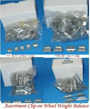 400 Pcs ASSORTMENT CLIP-ON WHEEL WEIGHT BALANCE FN STYLE 0.25 0.50 0.75 1.00 oz