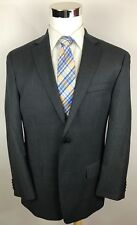 MICHAEL KORS Charcoal Pinstripe Slim Fit 2-Btn Wool Suit 39R 35x32 Tapered Mint!