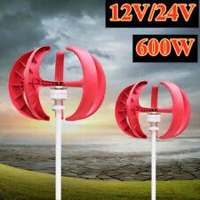 Lantern Vertical Wind Turbine Generator Kit 5 Blades 600W 12V/24V w/Controller