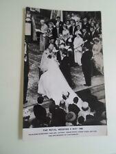 Vintage RPPC Royal Wedding 6th May 1960 Princess Margaret+Armstrong Jones  §A715