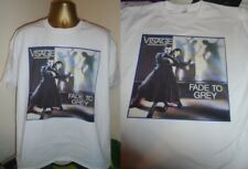 "VISAGE- FADE TO GREY- CLASSIC 7"" SLEEVE ART (FRANCE) PRINT T SHIRT- WHITE- LARGE"