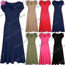 Viscose V Neck Skater Dresses for Women