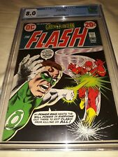 The Flash # 222 CGC 8.0 (VF) 1972 Green Lantern, Sinestro & Weather Wizzard app