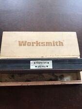 Vintage Worksmith Combination Sharpening Stone W/ Wood Box