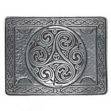Stunning Triskell Cast Pewter Kilt Trews Belt Buckle - Made In Scotland