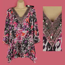 Party V Neck Not Multipack Tops & Shirts Plus Size for Women
