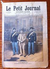 Le petit Journal 30/07/1894; Caserio l'assassin du président Carnot