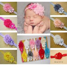 Lot 12 Bandeaux Bébé Fille Enfant Serre-tête Cheveux Fleur Dentelle Mariage IDXX