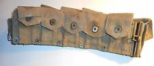 WWII US MILITARY ISSUE 1943 10 POUCH BELT CARTRIDGE / AMMO M1 GARAND 30/06