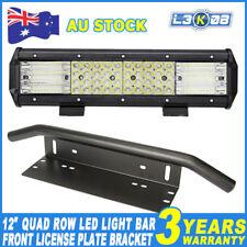 """12inch 1128W QUAD ROW LED Work Light Bar + 23"""" Number Plate Frame Mount Bracket"""