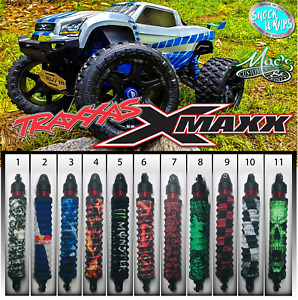 *HOT NEW CUSTOM* Traxxas X-Maxx Xmaxx Shock Boots - Covers by Macs - 4 pcs