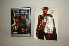 Butch Cassidy and the Sundance Kid + Good The Bad and The Ugly DVD Westerns Lot