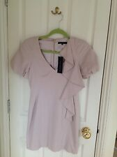 French Connection Dusky Pink Ruffle Dress, Size 8, BNWT