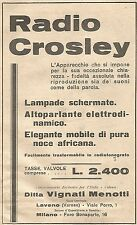 W4001 Radio CROSLEY - Pubblicità del 1930 - Vintage advertising