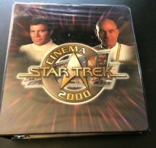 2000 Star Trek Cinema Sets with binder and Autograph cards
