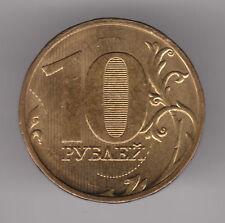 Rusia 10 rublos 2009 Moneda De Latón Niquelado Acero-Moscú Menta
