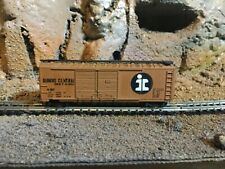 N Scale ATLAS 40' double door boxcar ILLINOIS CENTRAL mtl couplers