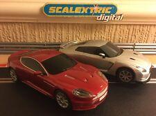 Scalextric ASTON MARTIN DBS & Nissan GT-R Digital