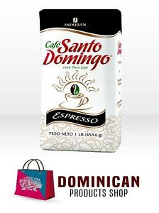 CAFE SANTO DOMINGO EXPRESSO BEST DOMINICAN GROUNDED COFFEE 1 POUNDS 454 GRAMS