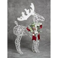 FESTIVE FROST REINDEER ORNAMENT FIGURINE SPARKLY CHRISTMAS XMAS DECORATION