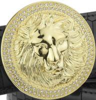 LION DIAMONDS MENS DESIGNER PIN BUCKLE ONLY FOR 38 MM BELTS LUXURY BELT BUCKLES