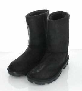 49-35 NEW Women's Sz 5 M UGG Essential Short UGGpure Wool Lined Leather Boot