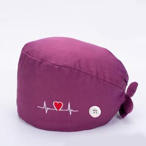Unisex Surgical Cap Doctor Nurse Baotou Caps Bouffant Sanitary Cotton Polyester