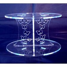 Acrylic Butterflies Cross Pillars 10cm High for our Wedding & Party Cake Stands
