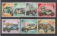 1984 CAMBODGE Kampuchea 598/604 ob CAMBODIA 491/497 Tatra Rolls Royce Bugatti