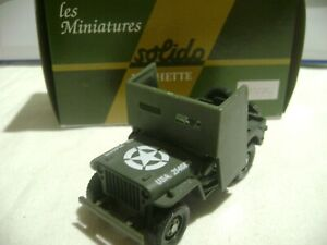 Militaire jeep willys 11 solido 1/43 ref 6697