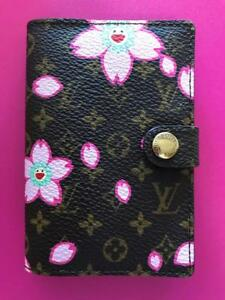 AUTH LOUIS VUITTON MONOGRAM CHERRY BLOSSOM ADDRESS BOOK PINK CASE COVER CREDIT