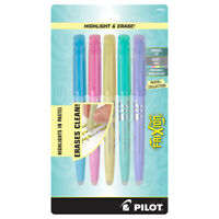 Pilot Frixion Erasable Highlighters Pastel Collection, Chisel Tip, Assorted 5 ct