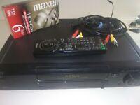 Sony Hi-Fi Stereo VHS VCR Recorder/Player SLV-760HF Remote + AV Cable Blank Tape