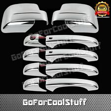 For Jeep Patriot 08-12 4Drs Handle W/Smrtkh+Full Mirror 2Pc Chrome Covers