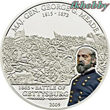 Cook Island 2009 silver 5$ Gen G Meade Battle of Gettysburg