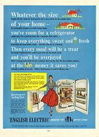 "original large colour advert ""  english electric  "" 1956"
