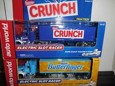 AUTO WORLD ~ Nestle BUTTERFINGER & CRUNCH Racing Rigs ~ New in Box ~Fits AFX, AW